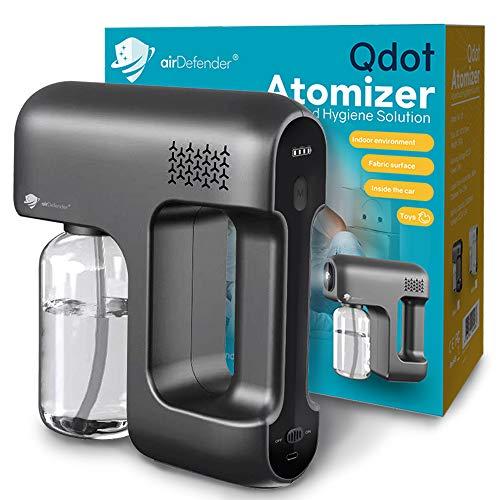 airDefender Disinfectant Fogger Sanitizer Spray Machine – Rechargeable Handheld Electric Atomizer Steam Gun for Home Offices, Gym, School, Restaurants