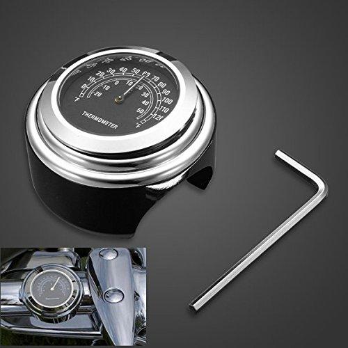 Alamor 25Mm Motorfiets Stuur Thermometer Gauge Voor Harley Atv Boot