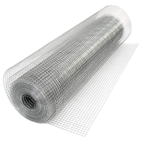 Niederberg Metall 25m x 100cm Volierendraht - Feuerverzinkt 19x19 Maschendrahtzaun Kaninchendraht