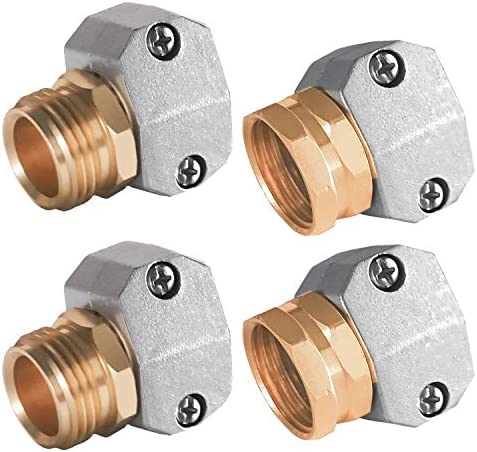 Hourleey Garden Hose Repair Fittings Zinc and Aluminum Male and Female Hose End Water Hose Repair product image