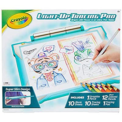 Crayola Light Up Tracing Pad Pink, AMZ Exclusive, at Home Kids Toys, Gift for Girls & Boys by Crayola