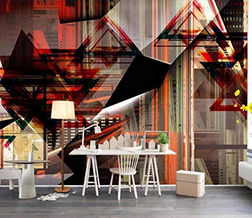 RTYUIHN Room 3D Geometric Curve Graphic Space Expansion Background Wall 3D Wallpaper Wall