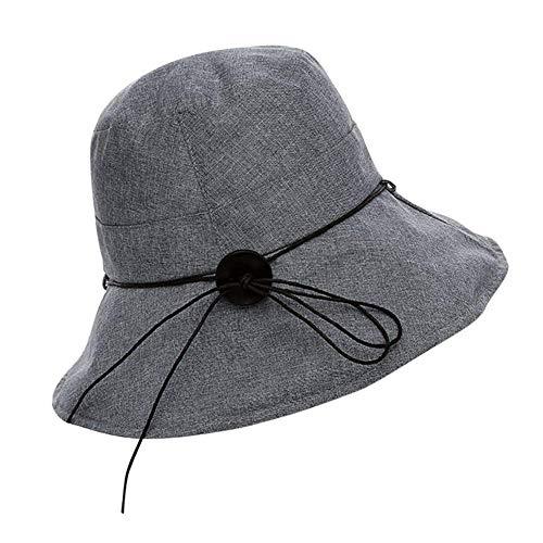 Sombrero del Balde De Las Mujeres Anti Sólido Ocasional Color Sombrero para...