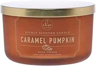 DW Home Pumpkin Toffee Hand Poured Candle with Lid 3.8 Oz