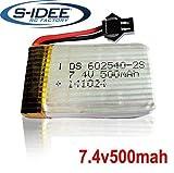 s-idee® 01206 | 1 x 7,4V 500 mAh Akku für Quadrocopter 01251 S183C Quadro mit HD Kamera