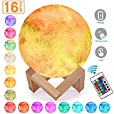 Magicfly Starry Night Light, 16 Colors LED Moon Stars Lamp, Dimmable with Tap