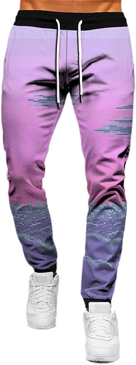 Autumn/Winter Unisex Pants Adult Fashion Casual Pants Ocean Wave 3D Printing Harajuku Sports Pants
