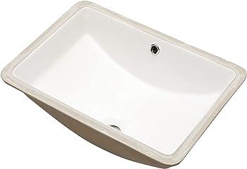 Mocoloo Ceramic Glazed Porcelain Undermount Bathroom Sink