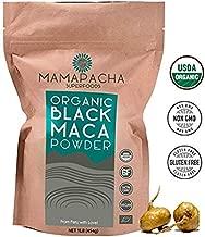 Organic Black Maca Powder Raw 1LB (454g) - 100% Premium Peruvian Raw Black Maca Root USDA Certified - Vegan and Gluten Free - Perfect to use in Smoothies,Cooking or Baking