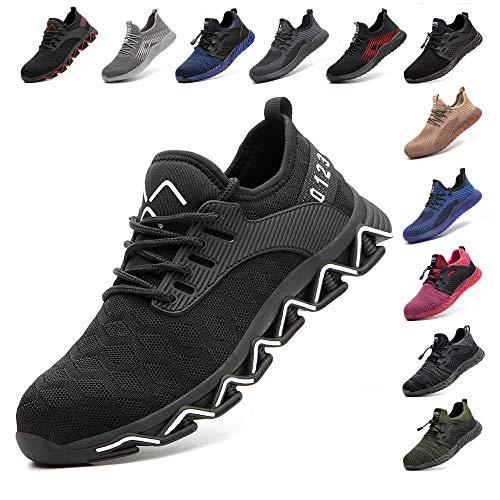 Zapatos De Seguridad Para Hombre Con Puntera De Acero Mujer Calzado De Trabajo Zapatos De Deportivos...