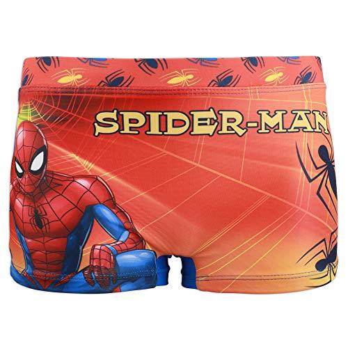 Marvel Avengers Spiderman - Costume da Bagno Pantaloncino Boxer Mare Piscina - Bambino - Prodotto Originale con Licenza Ufficiale [1747 Blu Royal - 8 A - 128 cm]