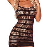 Acizi - Mini vestidos para mujer, sexy, sin costuras, corte de ropa de dormir para sexo