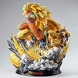 Dragon Ball Z Modelo Personaje Anime GK Dragon Fist Resonance Super Saiyan 3 Son Goku Action Figure para Fotografía, Afición Y Colección