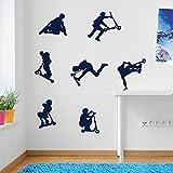 Kinder Stunt Scooter, Sprünge, Tricks, Wand Dekorationen