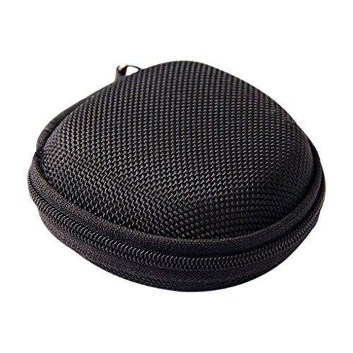 zhibeisai Portable Earphone Bag Coin Purse Headphone Case Cable Storage Box