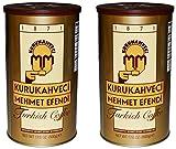 Kurukahveci Mehmet Efendi Turkish Coffee 17.6 Ounce Can (Pack of 2)
