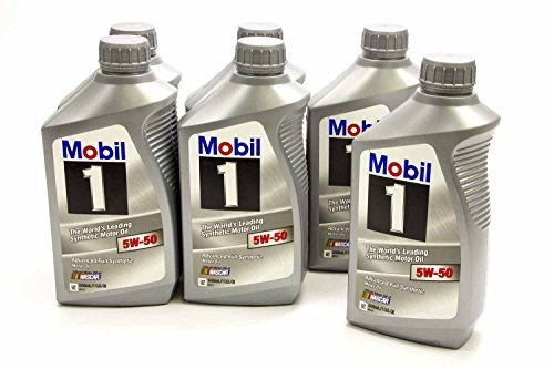 Mobil 1 40002 5W-50 Synthetic Engine Oil - 1 Quart (Pack of 6)