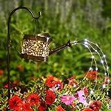 "Solar Garden Lights Pathway Outdoor,""Dew Drop Water Can"" Garden Stake Metal Lights Decorative Yard Art Waterproof LED Garden Lights,for Patio Yard Walkway Pathway Lawn Decorations"
