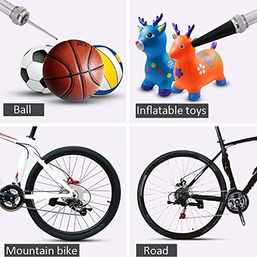 Tragbare Mini-Fahrradpumpe für Presta und Schrader Ventile, 130 PSI Fahrradreifenpumpe für Straßen, Mountain und BMX Fahrräder, Aluminiumlegierung - 6