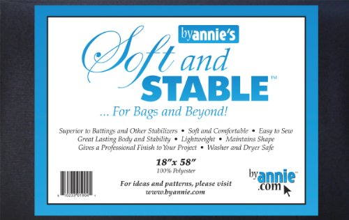 ByAnnie's Soft and Stable Fabric, 18 by 58-Inch, Black