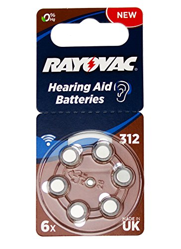 Varta Rayovac Acoustic Special 312 - Batterie per apparecchio acustico, 1,4V, 180 mAh, 10 confezioni da 6 batterie
