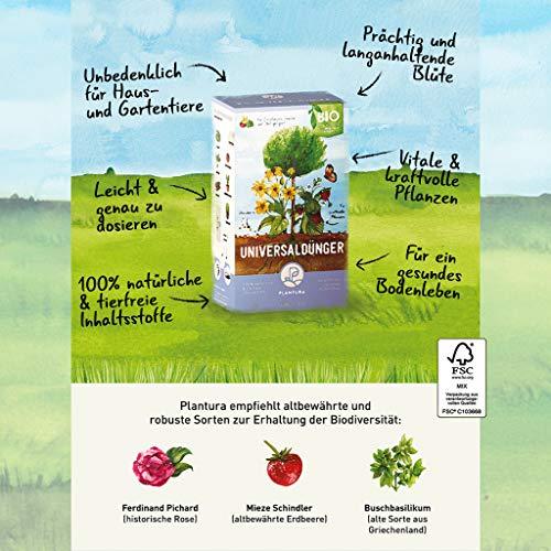 Plantura Bio Universaldünger mit 3 Monaten Langzeitwirkung, Pflanzendünger, für kraftvolle Pflanzen, 100% tierfrei & Bio, gut für den Boden, unbedenklich für Hund, Haus- & Gartentiere, Naturdünger - 2