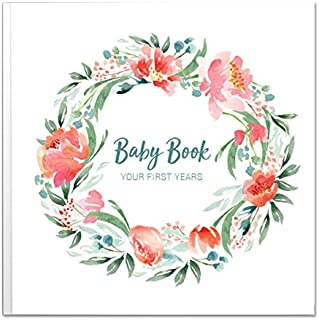 Baby Memory Book for Girls   Keepsake Milestone Journal   LGBTQ Friendly   9.6 x 10 in. 50 Pages   Perfect Baby Shower Gift