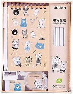 Stationery Set - Deli School Stationery Creative Pencil Writing Box Set Escolar Stationary Set Kids School Set Stationerie...