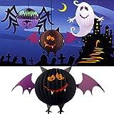 YuYLin Queber LED Halloween Bat Laternen Papierlampe Haus Garten Dekorationen Mode