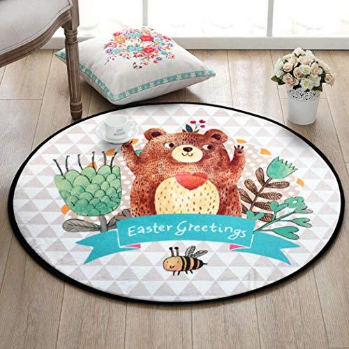 OMUSAKA Runde Anti Rutsch Badezimmer Matte Wohnzimmer Schlafzimmer Wohnkultur Boden Teppich Teppiche Kinder Kinder Spielmatte