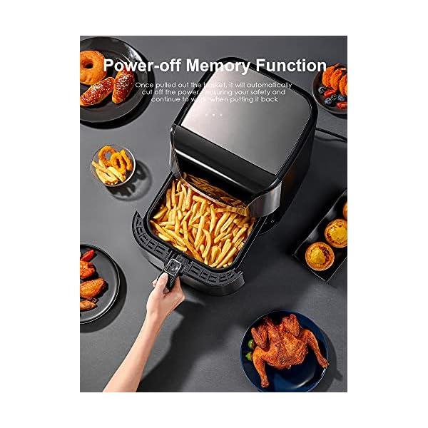 Air Fryer 5.8Qt, Oil-Less Airfryer Oven with Crisp Taste / Dishwasher-Safe Basket / 40 Recipe, Cooker for Roasting…