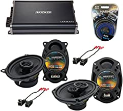 Compatible with Cadillac Coupe DeVille 88-89 OEM Speaker Upgrade Harmony Speakers & CXA300.4 Amp (Renewed)