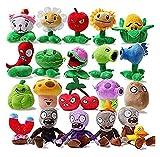 XIANGSHENG Juguetes de Plants vs Zombies Plant vs Zombie Soft Plush Toy Set 20pcs / Lot Plants Vs Zombies Peluches PVZ Plants Vs Zombies