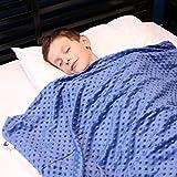 Huggaroo Couverture Lestée pour Enfants   Ultra Douce, Confortable et Facile à Transporter   Aide Idéale Naturelle Au...