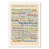 Póster de palabras de Baja Renania DIN A4