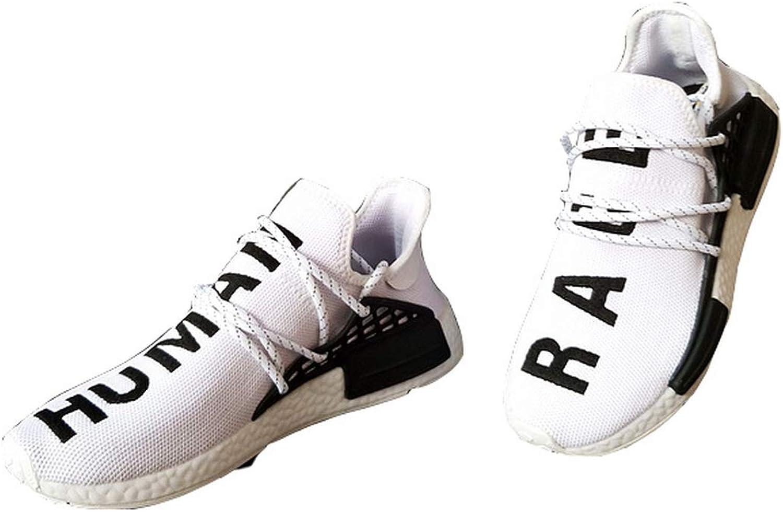 Stockyeezyv2 Men Women Fashion Human Race Sneaker Casual Boost Lightweight Mesh shoes (Women's US7.5 39 EU, White)