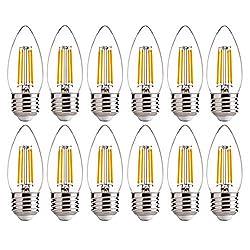 E26 Base LED Candelabra Light Bulb 60W Equivalent B11 Dimmable Soft White 12Pack