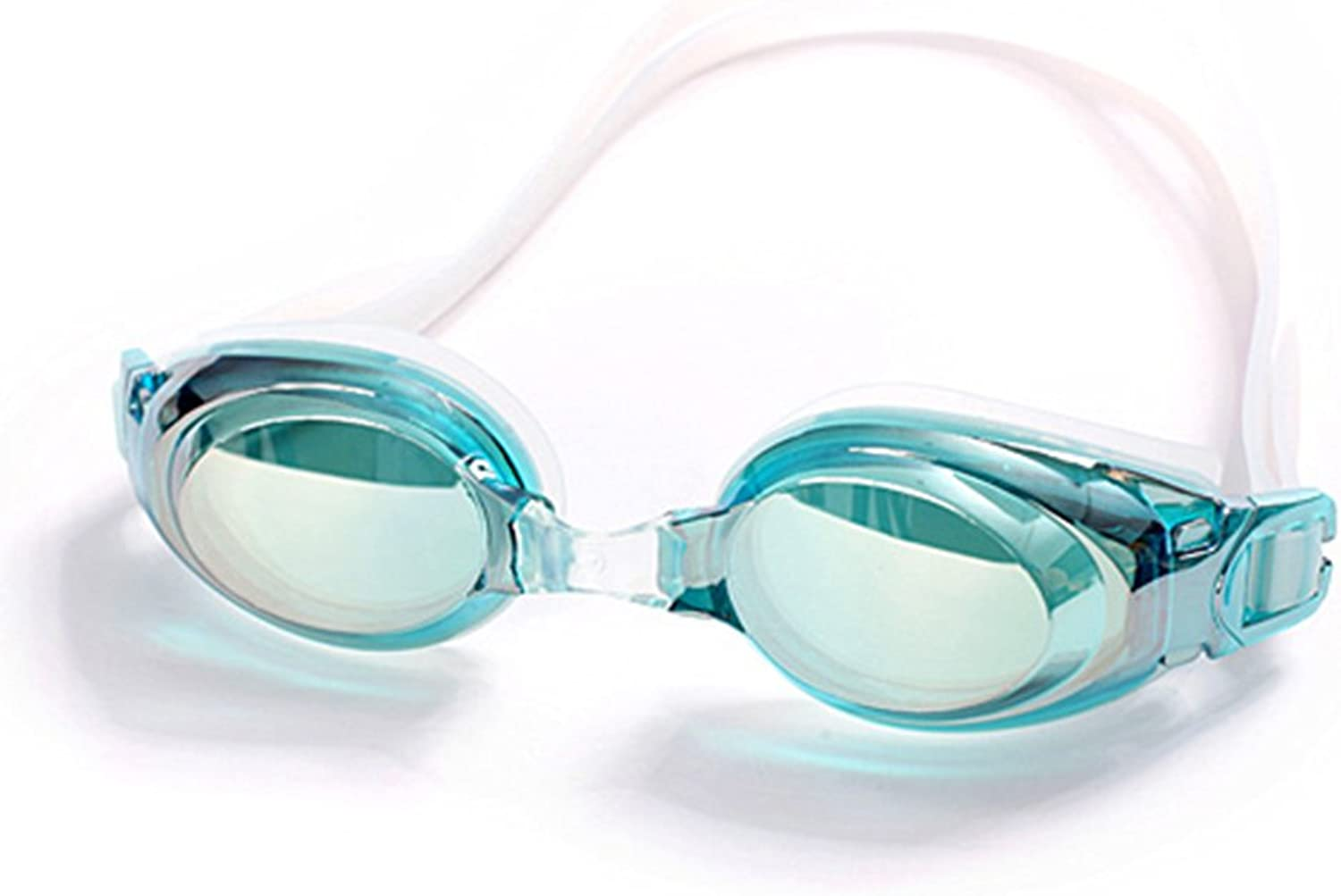 Swim Goggles for Women Girls with Nose Clips and Ear Plugs, Anti Fog UV Predection No Leaking Swimming Goggles for Beach Pool