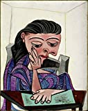 Pablo Picasso - Girl Reading, Size 24x32 inch, Gallery Wrapped Canvas Art Print Wall décor