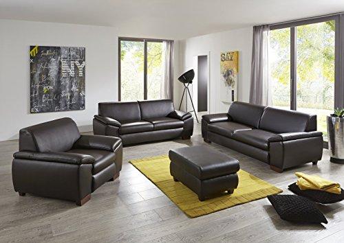 OnlineMöbelBestellen Escobillero sofá Tokio Aspecto de Piel marrón 3–2de 1de Piel sintética