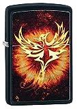 Zippo Phoenix Design Black Matte Pocket Lighter