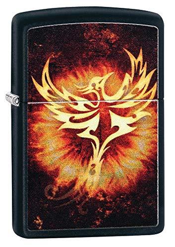 ZIPPO – Phoenix Design 2, Black Matte – Benzin Sturm-Feuerzeug, nachfüllbar, in hochwertiger Geschenkbox
