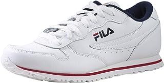 Fila Euro-Jogger-II Chaussures de sport pour homme Blanc/bleu marine/rouge