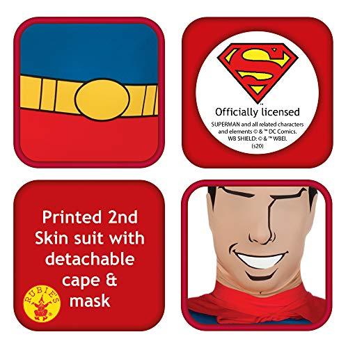 Rubie's 880520M - Costume da Superman a Tutto Il Corpo, Elasticizzato, Taglia M, da Uomo