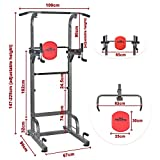 RELIFE REBUILD YOUR LIFE Power Tower Pull Up Bar Dip Station Multifunctional Adjustable Push up Equipment for Home Gym Strength Training Workout Fitness