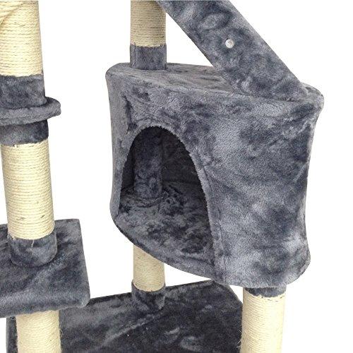 Grauer Katzenbaum – Kratzbaum aus Natursisal - 4