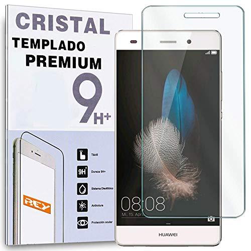 REY Protector de Pantalla para Huawei P8 Lite Smart, Cristal Vidrio Templado Premium