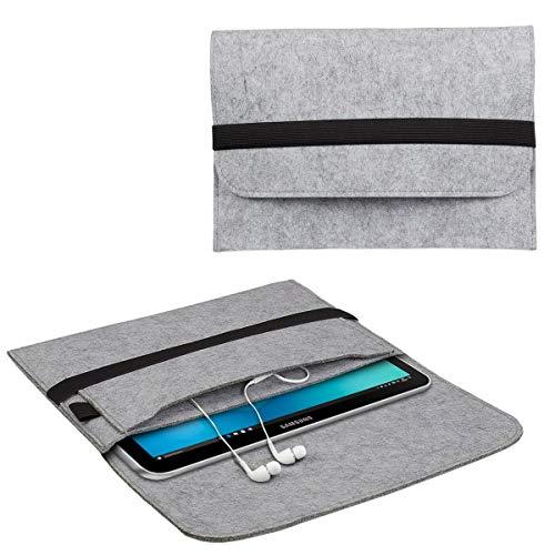 eFabrik Schutztasche für Samsung Galaxy Book 12 Tasche aus Filz (12' Convertible Tablet-PC) Sleeve Case Soft Cover Filztasche Schutzhülle Filz, Farbe:Grau