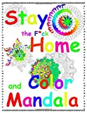 Stay the F*ck Home and Color Mandala: - Easy Mandala for Beginners: An Adult Big Mandala Coloring Book with Fun e Relaxing Coloring Pages. Senior or ... and Stress Management Paperback – Large Print