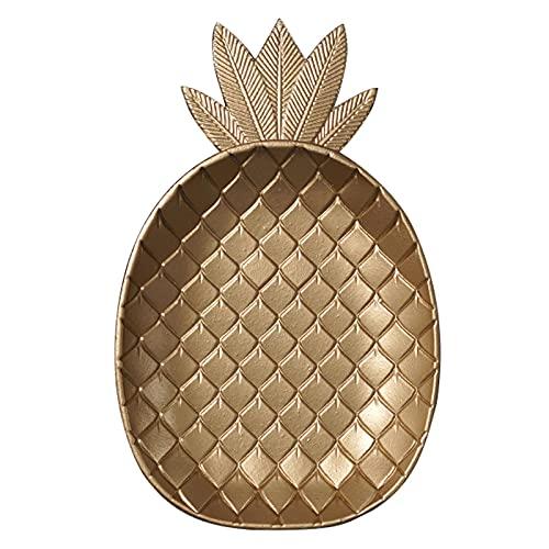 DSFSAEG Bandeja decorativa de la piña de la hoja de la decoración de la mesa del estilo nórdico de la torta del pan de la bandeja de